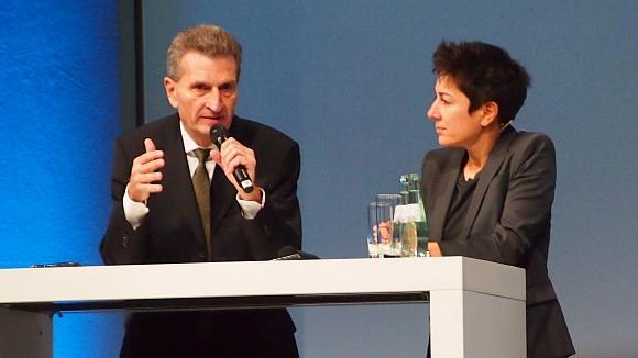 EU Digital-Kommissar Oettinger beim Deutschen Handeskongress in berlin (Foto: parfuemerienachrichten)