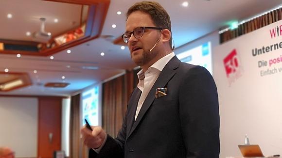 Sebastian Deppe, BBE Handelsberatung GmbH beim WIR-FÜR-SIE Jubiläums-Unternehmerkongress 2019